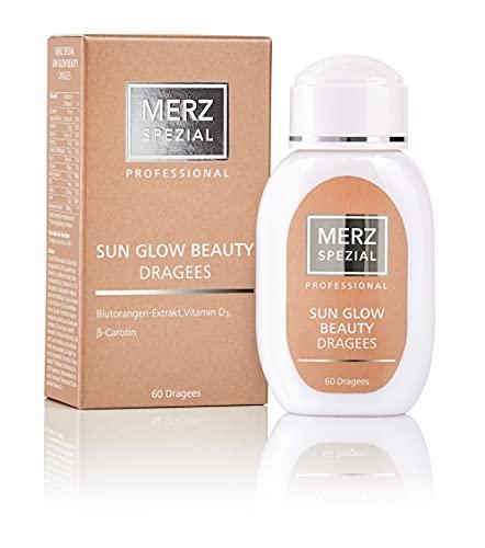 Merz Spezial Professional Sun Glow Beauty Dragees - mit Beta Carotin, Vitamin D3 & Blutorangen-Extrakt für leichte Bräune und Schutz vor Pigmentflecken (1 x 34g / 60 Dragees)