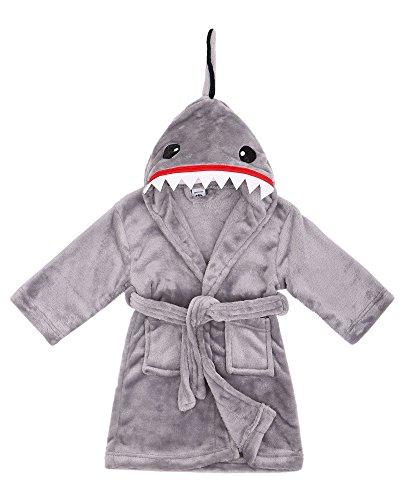 shark bathrobe toddler - 9
