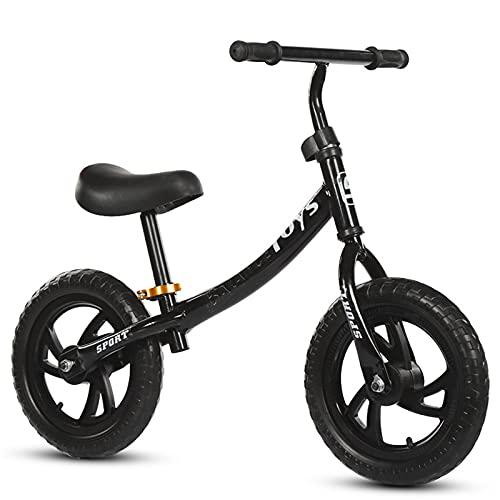 LLF Bicicletas sin Pedales, Bicicleta De Equilibrio para Niños para Niños GIRS 2 3 4 5 Años Sin Pedaleo Pedal Balance De Equilibrio Deportivo Bicicleta para Niños Pequeños(Color:Negro)
