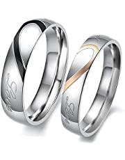 Sterling Silver Real Love Couple Rings Set