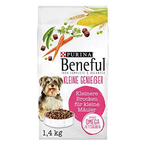 PURINA BENEFUL Kleine Genießer Hundefutter trocken für kleine Rassen, mit Rind, 6er Pack (6 x 1,4kg)