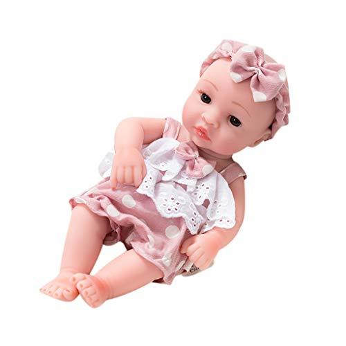 jieGorge 11 Inch Soft Reborn Baby Dolls Lifelike Sleeping Real Baby Dolls Newborn Toy, Toys and Hobbies (A)