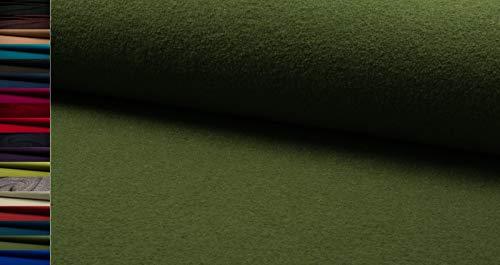 StoffBook Oliv HOCHWERTIG Loden WALKLODEN Stoff 620G, D548