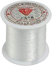 1 rulle fiskelina kristallklar nylon fiskelina spole pärltråd smycken pärltråd för gör-det-själv hantverk – 0,2 mm x 155 m