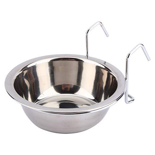 Pet roestvrij staal hondenmand voor konijnen, vogeldog, puppelvoering, watercage cup klemhouder dog feeder goederen 13cm