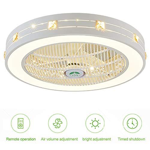 Luz Techo Ventilador, Silencioso 40W Regulable Techo Lámpara LED Con Control Remoto Temporizador, Tercera Ajuste Velocidad Ajuste Color Accesorios Aire Acondicionado, Para Sala Oficina Dormitorio