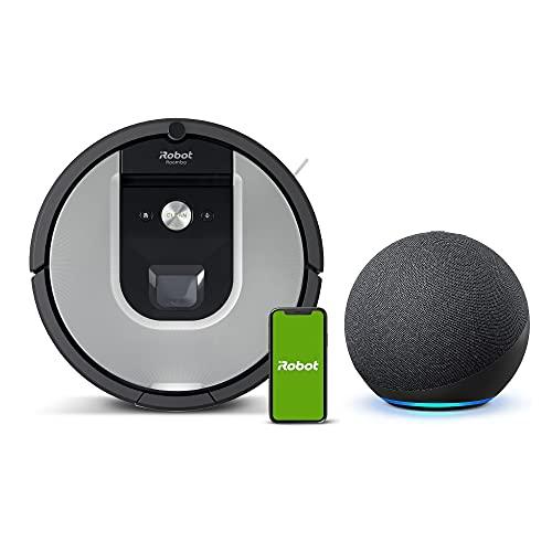 【セット買い】Echo Dot (エコードット) 第4世代 チャコール + ルンバ 961 アイロボット ロボット掃除機 Alexa対応モデル