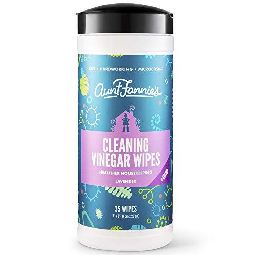 Aunt Fannies Vinegar Wipes Lavender, (Single Pack, 35 Count)