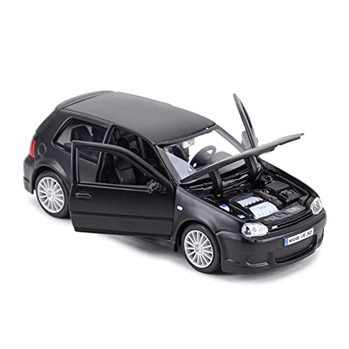 GEBAN Vehículo a Escala 1:24 para Volkswagen para Golf R32 Juguetes educativos Decoraciones Interiores Regalo de Coche para niños