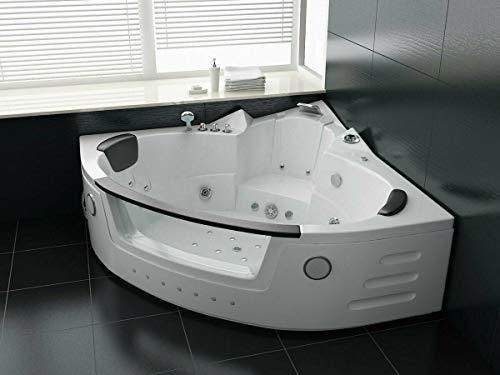 Luxus LED Whirlpool Badewanne SET 152x152cm +Heizung+Hydrojet +Ozon +Radio 2021