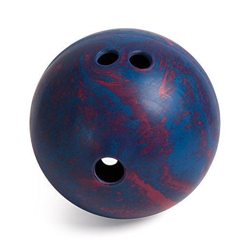 Champion Sports Lightweight Rubber Bowling Ball, 2-1/2 Pounds, Teal and Red Swirl (BP25)