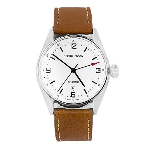 Georg Jensen Koppel uomo automatico Dual tempo GMT orologio Swiss Made...
