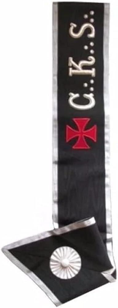 Masonic collar - AASR - 30th degree - C. K. S. Templar cross - Right shoulder to left hip