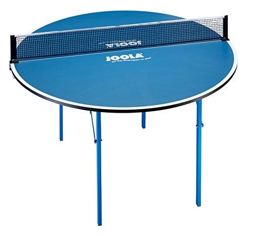 JOOLA Tischtennistisch Round Table Tischtennisplatte Funspieltisch für den Familien und Freizeitspaß-15 KG, Blau, 137 cm Durchmesser, 76 cm Höhe