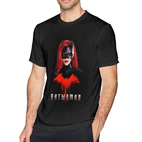Custom Mens Tee Top Hero Cartoon T-Shirts Black