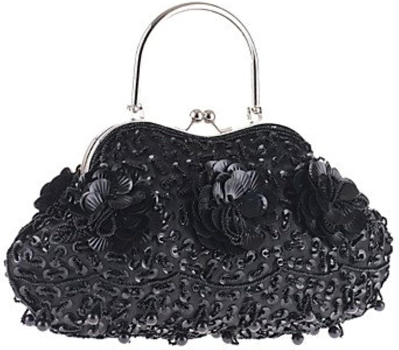 Women Elegant Highgrade Beaded Sequined Evening Bag