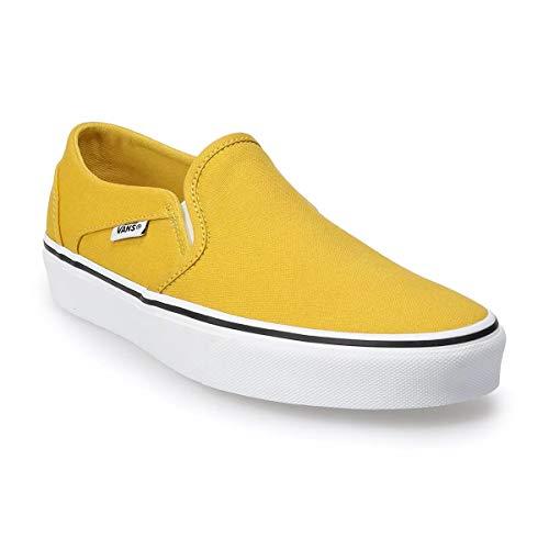 Vans Womens Asher Slip On Sneaker (Ceylon Yellow/White, Numeric_8)