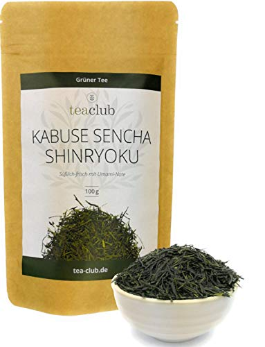 Grüner Tee Sencha First Flush Kabusecha 100g Lose, Grüntee Japan Kabuse Sencha Shinryoku, Japanese Green Tea TeaClub