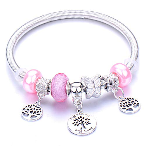 Jewellery Bracelets Bangle For Womens Metal Beaded Heart-Shaped Bracelet Ladies Gifts Ladies Bracelets Bracelet Jewelry-17