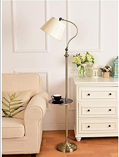 BXU-BG American Retro - Bandeja para mesa de café, lámpara de pie para sofá, estudio, lectura, villa, decoración (pantalla de color: 5)
