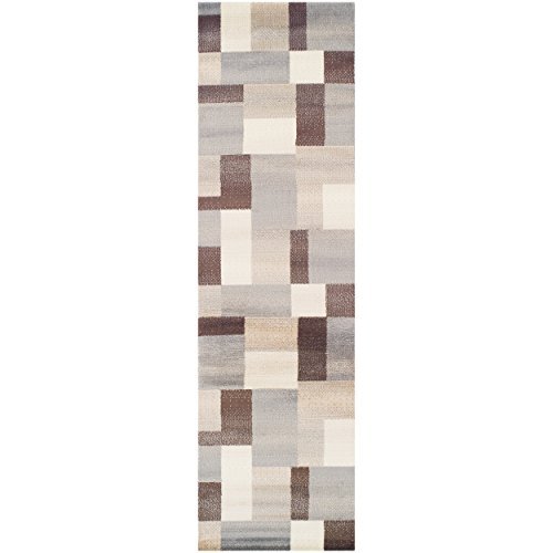 Superior Designer Clifton Collection Area Rug - Modern Area Rug, 8 mm Pile, Geometric Trellis Pattern with Jute Backing, Beige, 2' 7