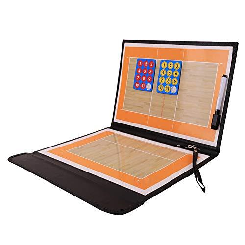 Tabla de entrenamiento de voleibol, magnética, plegable, tabla táctica de voleibol