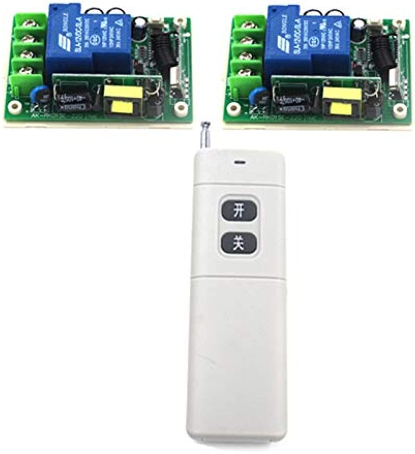 Luxury Remote Switch 85V250V Wireless Remote Control Light Switch 30A 2 Receiver + 1 Transmitter 4136