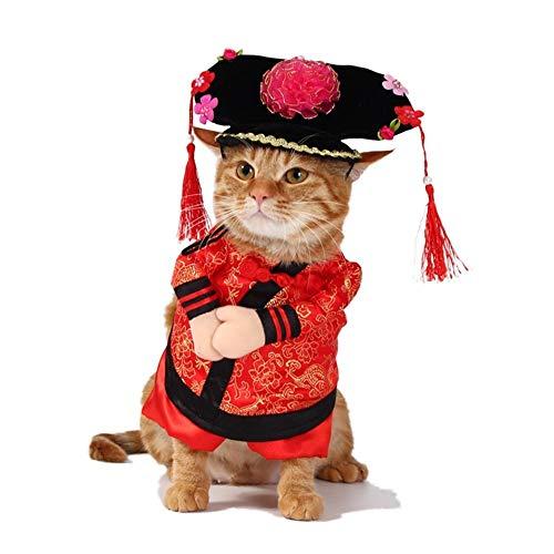 DHDHWL Hunde Kleidung Lustige chinesische Prinzessin Kleidung for Katzen-Kostüm for Hunde Weihnachten Anzug Cat Kleidung Hundeausstattung Haustier-Kleid Warme (Color : Multi-colored, Size : M)