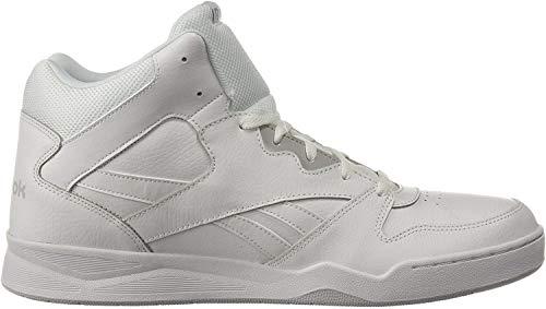 Reebok Men's Royal Bb4500 Hi2 Walking Shoe, White/LGH Solid Grey, 10.5 M US