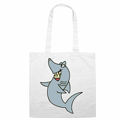 Tasche Umhängetasche Motiv Nr. 12436 Hai Cartoon Spass Fun Kult Film Serie DVD Cartoon Spass Fun Kult Film Serie DVD E
