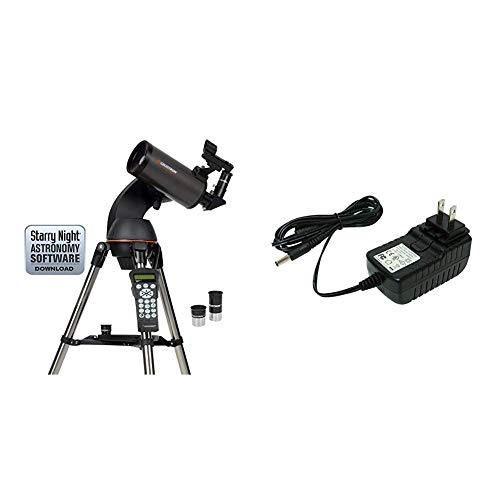 Best Deals! Celestron NexStar 90SLT Mak Computerized Telescope (Black) with 18778 AC Adapter (Black)