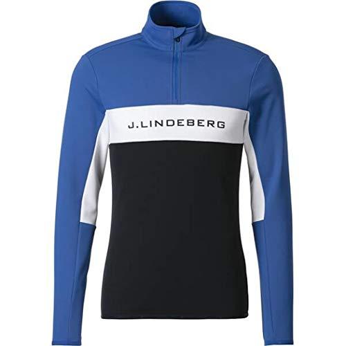 J. Lindeberg Herren Kimball Midlayer Zip Pullover - blau (XL)