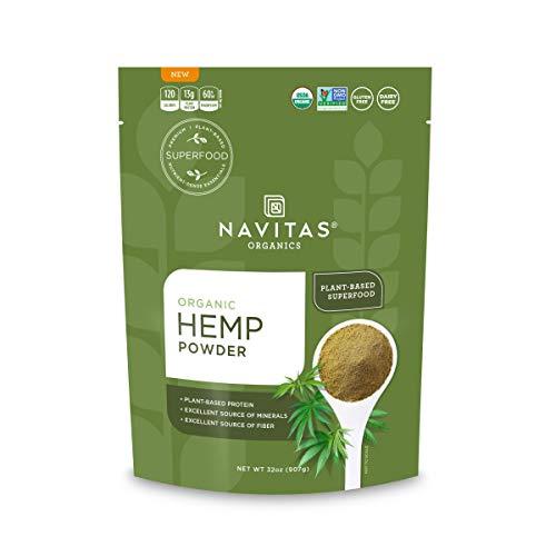 Navitas Organics Hemp Powder, 32 oz. Bag, 30 Servings — Organic, Non-GMO, Cold-Pressed, Gluten-Free