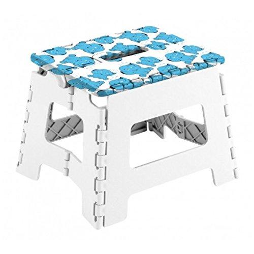 Arregui Olifant multifunctionele kruk, wit en blauw, 25 x 20 x 21 cm