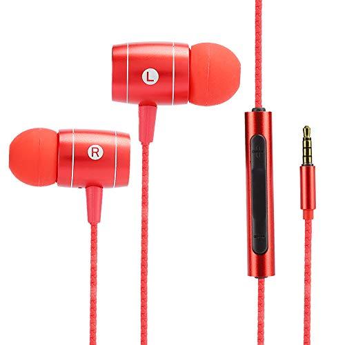 Uxsiya Auriculares para teléfono móvil, portátiles, sin pérdidas, con cancelación de ruido mejorada, para diferentes escenas de ruido, para teléfonos móviles, color rojo
