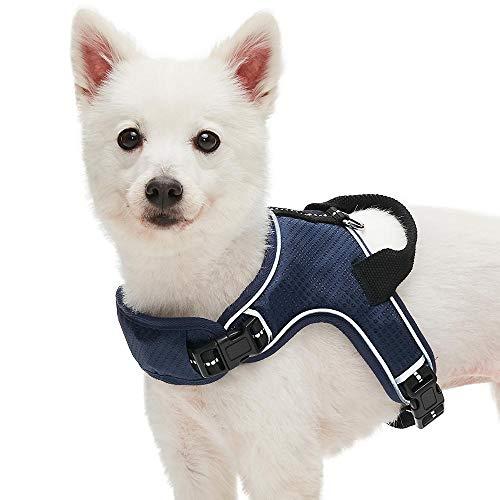 Umi. Essential Reflektierendes Anti-Zug Hundegeschirr, Marineblau, Mittel, verstellbares Geschirr für Hunde