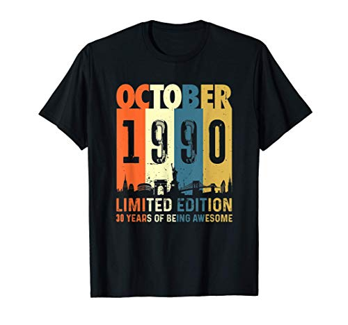Edición limitada para 30 años, nacido en Octubre 1990 Camiseta