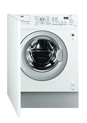 AEG L61470BI Waschmaschine Frontlader / Energieklasse A+++ (190,0 kWh/Jahr) / vollintegrierbare Waschmaschine mit 7 kg Trommel / sparsamer Waschautomat mit großer Programmauswahl