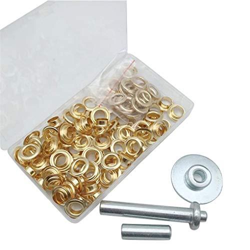 Floridivy 103 stuks/set 12mm metalen ringetjes Tent Canvas Leather Craft Oogjes Kit met Install Tool & Storage Box