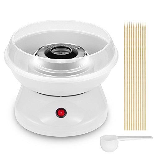 220V Zuckerwatte-Maschine Haushalt elektrische Mini-Zuckerwatte-Maschine kreative Kinder Geburtstag Weihnachtsgeschenke Hot (Weiß)