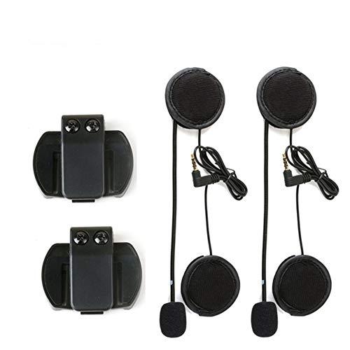 XYBH Xybhjxb 2 unids 3.5mm Micrófono Altavoz Auriculares Casco Clip for VNETHEPHONE V4 V6 EJEAS V6 V6 Pro Motocicleta Bluetooth Walkie-Talkie Moto