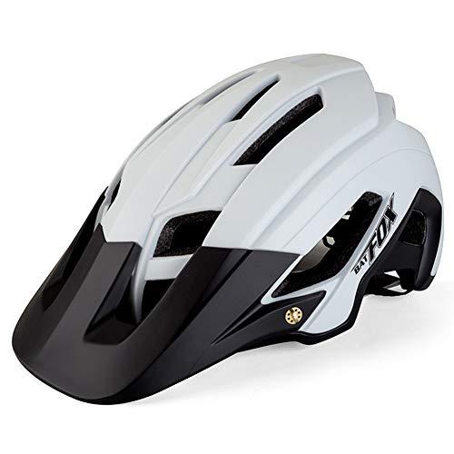 OMGPFR Casco De Bicicleta para Adultos Resistente A Los Golpes, Casco De Bicicleta De Montaña para Deportes Al Aire Libre F692 (WHITEBLACK)
