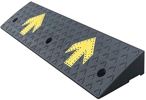Rubber Kerb Ramps Safety Ramp Curb Ramps High Step Mat Rubber Kerb Ramps Lightweight Mobility Threshold Ramps for Wheelchairs Deceleration Zone