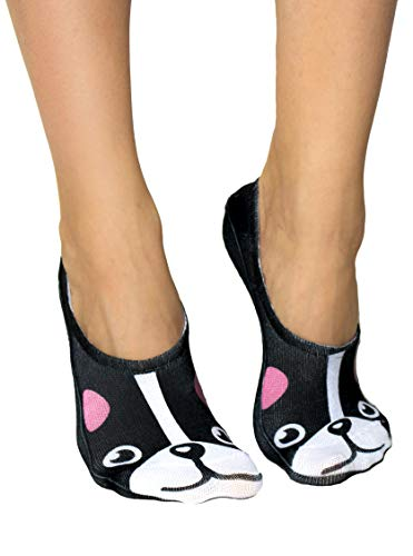 Living Royal Low Cut Fun Themed Liner Socks (Frenchie)