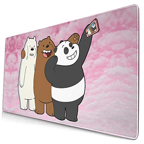 PinkBubble We Bare Bears- Mouse Pad Customized Gaming for Laptop and Computer Cute Design Desk Accessories Non-Slip Stitched Edges Waterproof