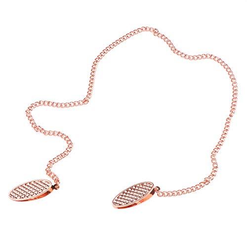 inlzdz 4 Farbe Serviettenhalter für ältere Erwachsene Baby Serviettenkette Serviette Clips Handtuch Schürze Lätzchen Serviette Kette Klammer Rosa Gold One Size