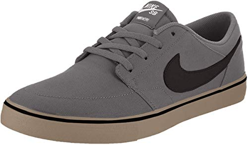 Nike Mens SB Portmore II Solar CNVS DK Grey Black Gum Light Brown Size 11