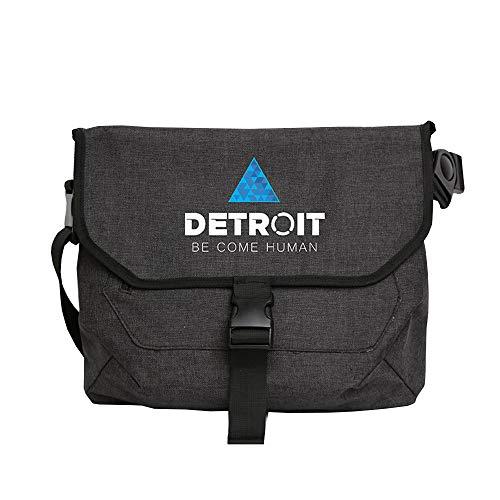 AILIENT Detroit Become Human Detroit Become Human Sac à Bandoulière en Toile Fashion Sport Rétro Pochette Messager Sacoche de Voyage bandoulière
