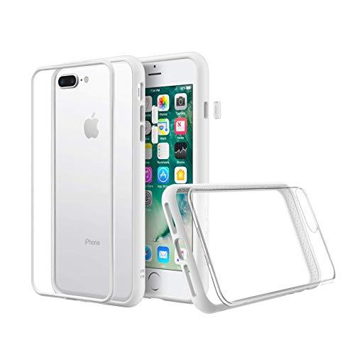 RhinoShield Coque Compatible avec [iPhone 7 Plus / 8 Plus] | Mod NX - Protection Fine Personnalisable avec Technologie Absorption des Chocs [sans BPA] + [Programme de Remplacement] - Blanc