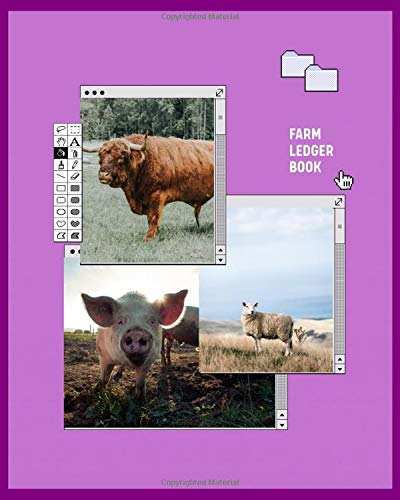 Farm Ledger Book: Gifts for farmers. Farm Ledger Book and Notebook. Including such things as equipment and maintenance log, income and expense planner and tracker. Great organizer for any farmer.